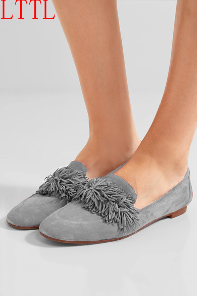 ФОТО 2017 women shoes flat fashion fringe ladies shoes shallow basic shoes red blue gray casual shoes women zapatos mujer big size