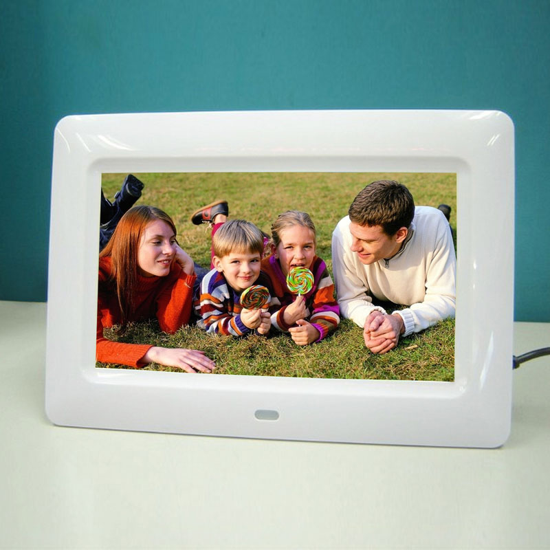 7101121517 inch screen hd led digital photo frame with remote control support musicvideoebooktimealarm picture player