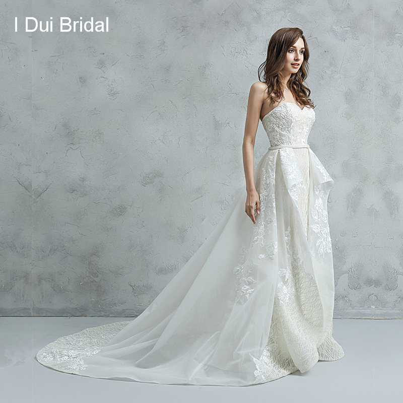Shinny Sparkle Wedding Dress A Line Sweetheart Lace Appliqued Beaded Belt Luxury Bridal Gown