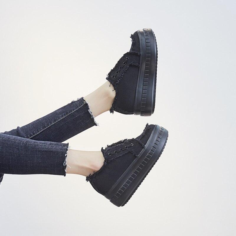 Aire Coser Estudiante Interna Lona Niñas as Al Mujeres Primavera Picture Moda Aumento Picture Zapatos Nuevas As Encaje Casuales Plataforma Plana B Libre De Las Cvx0Uwq4n