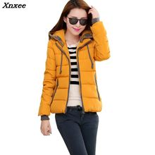 New 2018 Fashion Women Winter Down jacket Big yards Thickening Super Warm Coats Hooded Jacket Splicing Slim Coat Xnxee