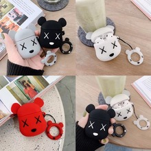 Soft Cute Silicone Case For Airpods For Air Pods Earphone Protective Cartoon Cover For Iphone 7 8 Headset Accessories Key Rings