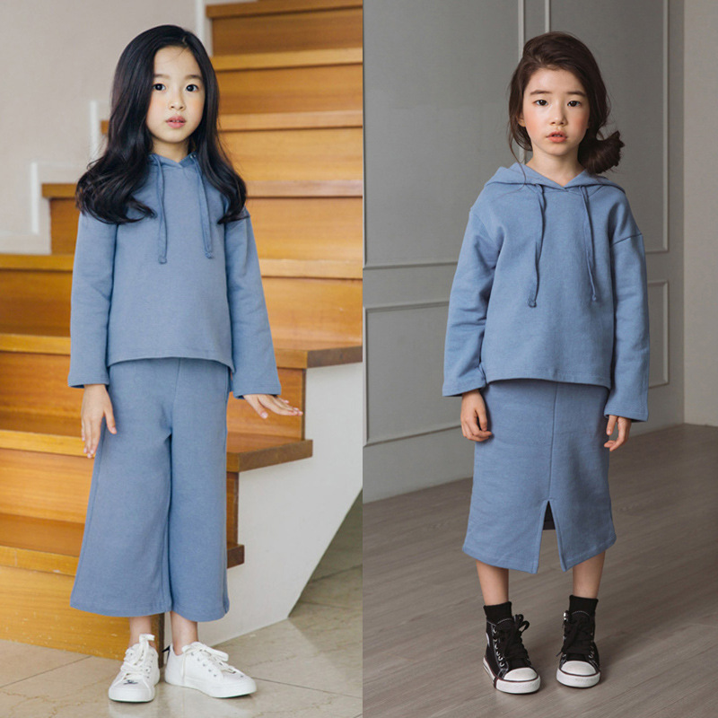 2 Pcs Knitting Girls Clothes Set 2018 New Autumn Casual Children Clothes Girls Clothing Sets Kids Suit Hooded Sweatshirt + Pants2 Pcs Knitting Girls Clothes Set 2018 New Autumn Casual Children Clothes Girls Clothing Sets Kids Suit Hooded Sweatshirt + Pants