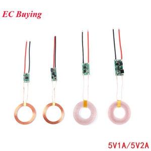 5V 1A/2A Draadloze Oplader Module Voeding Zender Ontvanger Opladen Coil Terminal Printplaat Voor Elektronische Diy telefoon