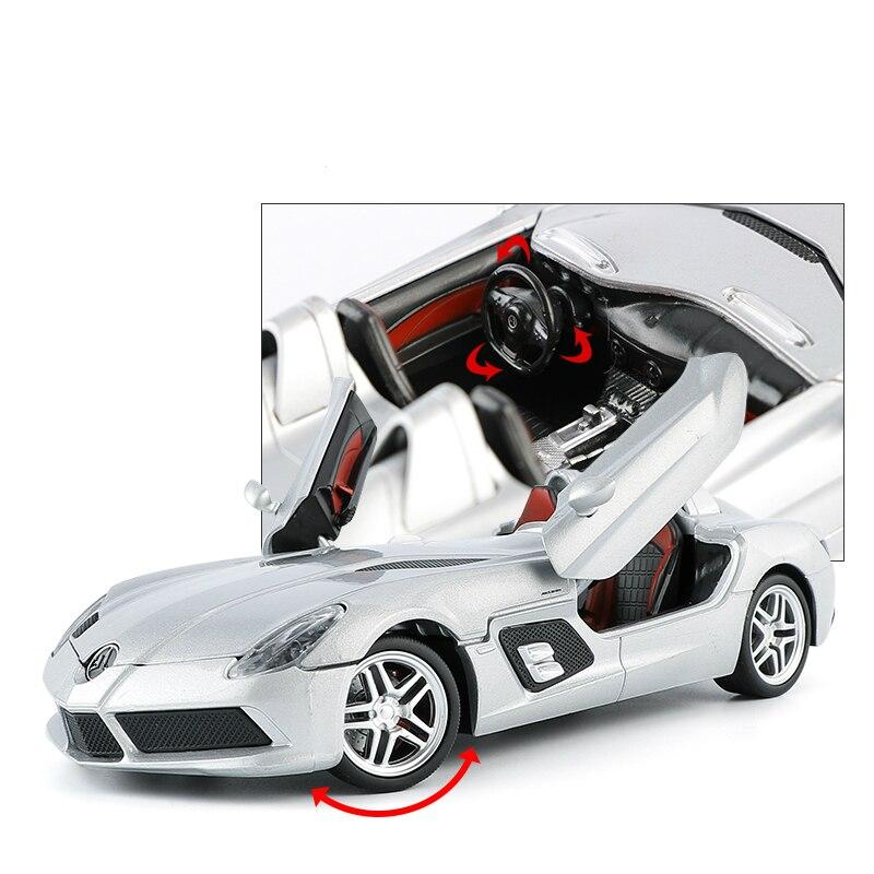 1:24 Limitée Ouvert Voiture de Sport REFLEX Alliage Métal Diecast Cars Modèle Jouet Véhicules Roue de Direction Jouet pour Enfants Collection Cadeau