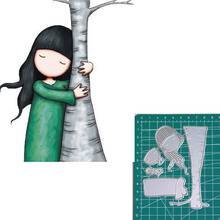 Holding trees new 2019metal cutting dies doll girls for scrapbooking and making paper cards