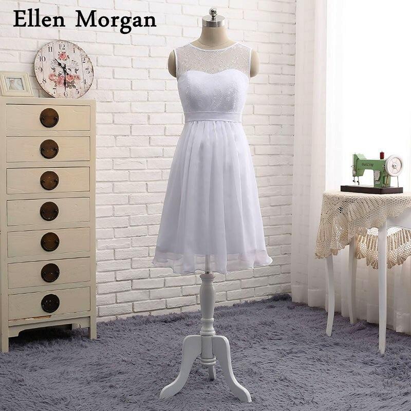 Short Chiffon Bridal Gowns for Pregnant Women 2019 Simple Empire Lace Chiffon Knee Length Summer Beach Maternity Wedding Dresses