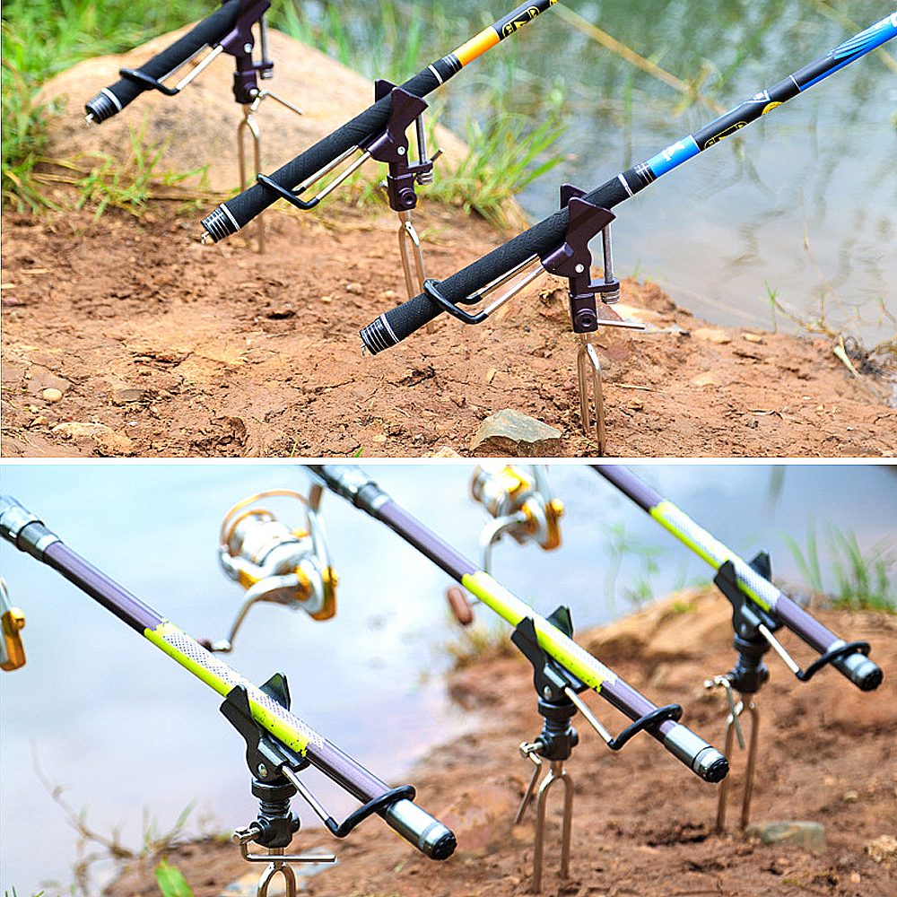 DONQL High Quality Fishing Rod Holder Angle Adjustable Metal Bracket Rack Stand For Fishing Rod Support Tools Accessories (12)