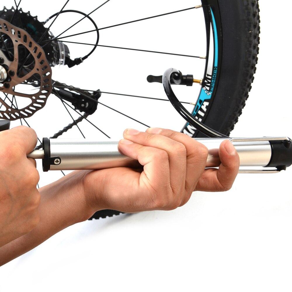 3d15c4bb3 RockBros جديد CNC 120psi شريدر/بريستا صمام الاطارات الطريق MTB دراجة دراجة  الدراجات الإطار اليد المحمولة الطابق مضخة هواء صغيرة