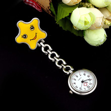 New Brand High Quality Fob Quartz Metal Nurse Watch Clip-on Brooch Pendant Hanging Pocket Watch With Smiling Face #100717