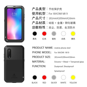 Image 4 - LOVE MEI For Xiaomi Mi 9 Case Gorilla Glass Life Waterproof Shockproof Metal Full Protectve Case for Xiaome mi9 phone cover case