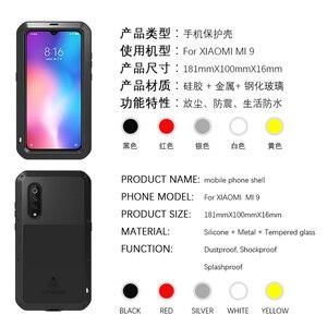 Image 4 - אהבת מיי עבור Xiaomi Mi 9 מקרה גורילה זכוכית חיים עמיד למים עמיד הלם מתכת מלא Protectve מקרה עבור Xiaome mi9 טלפון כיסוי מקרה
