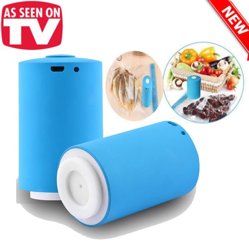 USB Household Food Vacuum Sealer Packaging Machine Sealer Handheld Vacuum Packer Send 5Pcs Recycle Bags Vacuum