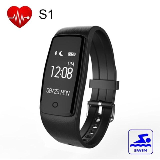 S1 Bluetooth Smart Band GPS Wristband Heart Rate Smart Bracelet IP67 Waterproof Swim Smartband Bracelet For Android IOS Phone
