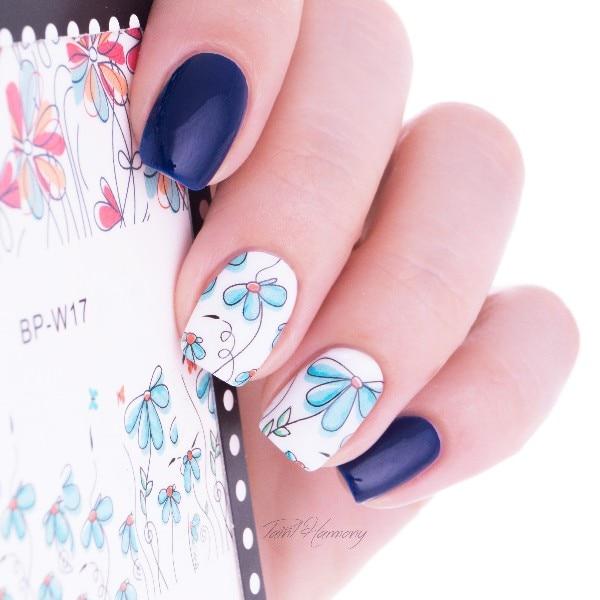 1 Sheet BORN PRETTY Nail Sticker Cute Flower Pattern Nail Art Water ...