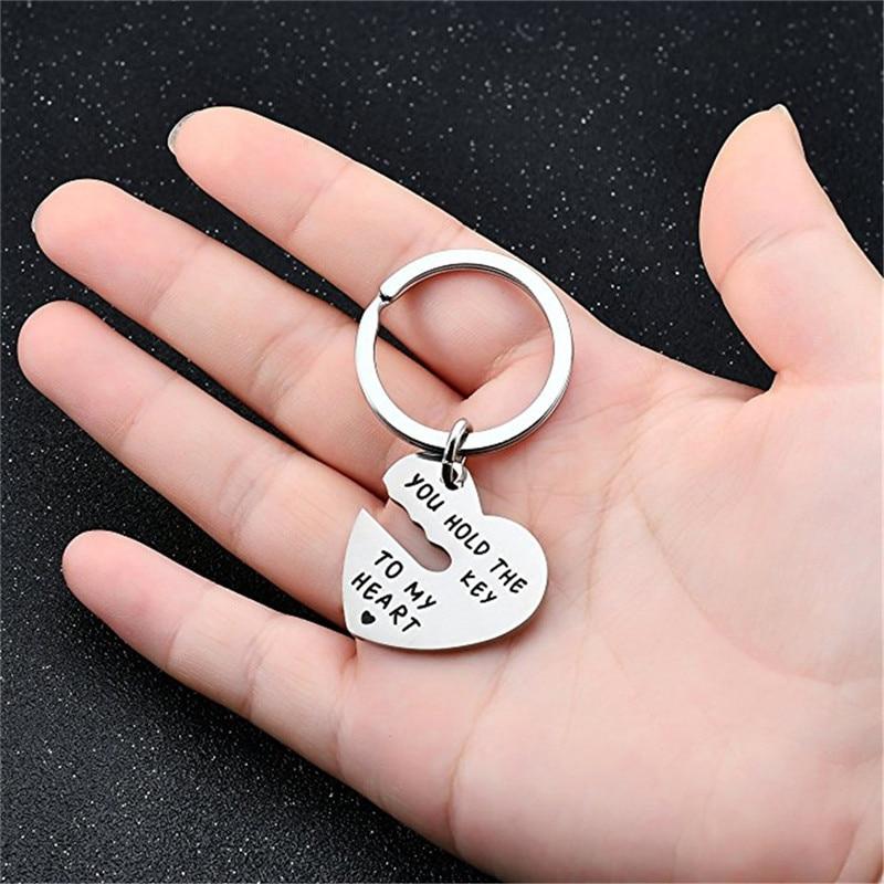 Bycobecy Unisex Schlüssel Paket Mode Für Immer Sie Halten Sie Die Schlüssel Zu Meinem Herzen Titan Stahl Schlüssel Anhänger Liebe Schlüssel Halter Veranstalter Gepäck & Taschen
