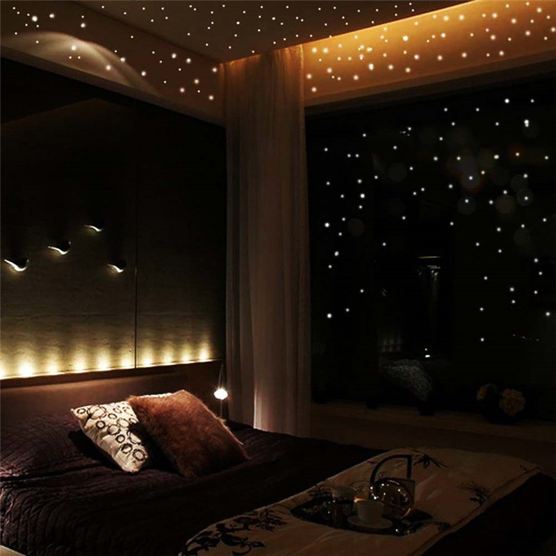 Wall-Stickers Room-Decoration Christmas-Gifts Bedroom Living-Room Luminous-Star Glow-In-The-Dark