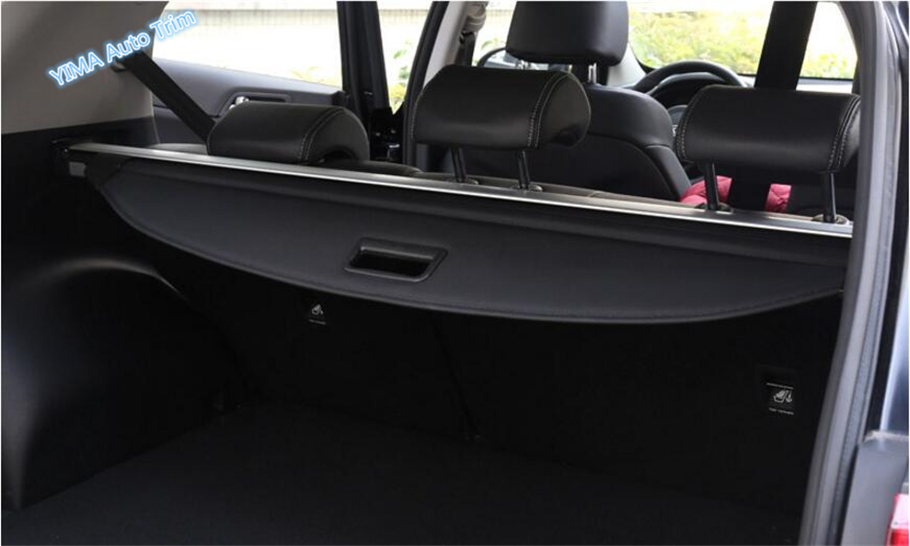 New Style ! Interior For KIA Sportage 2016 2017 Canvas and Aluminium alloyv Rear Trunk Cargo Cover Shield Cover Trim interior black rear trunk cargo cover shield 1 pcs for kia sportage 2016 2017