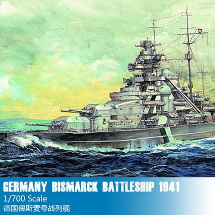 Trumpet 05711 1:700 German Bismarck Battleship Collection Model Building Kits Toy ba904 academy wwii german artwox battleship bismarck wood deck aw10047