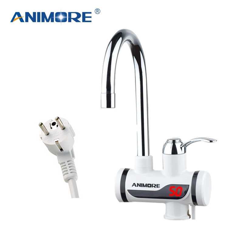 ANIMORE Electric Tankless Water Heater Instant Hot Water Faucet Heater Cold Heating Faucet Electric Instantaneous Water Heater image