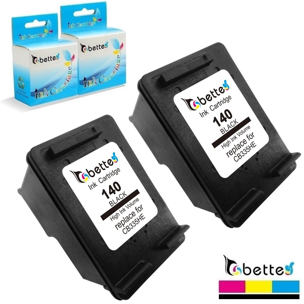 2PK,Bette Cartridge Replace for HP 140 Officejet J6400 J6405 J6415 J6424  J6450 J6480 Deskjet D4245 D4260 D4263 D4268 D4360 D4368-in Ink Cartridges  from ...