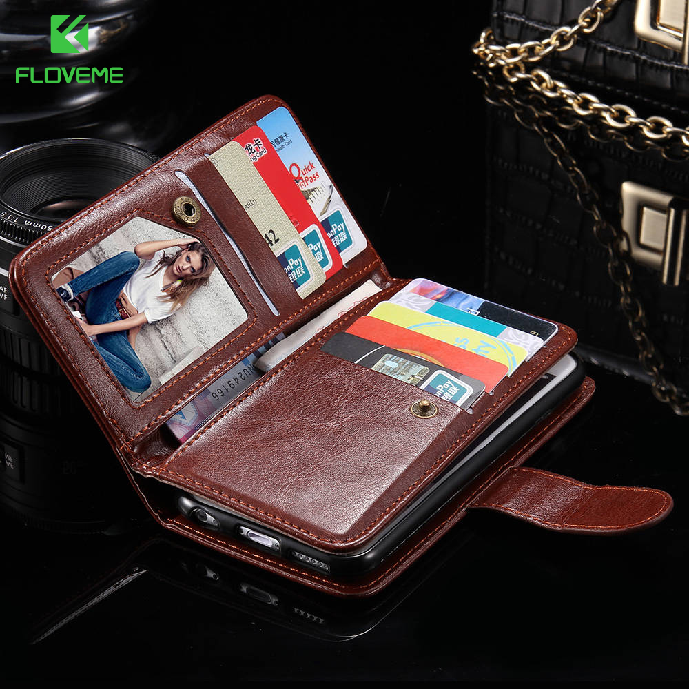 FLOVEME For iPhone 7 7 Plus 6 6S Plus PU Leather Wallet