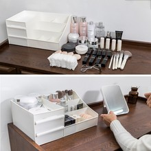 Large Capacity Desktop Organizer Box Drawer Storage Box Cosmetic Jewelry Stationery Container Case Sundries Organizer Box
