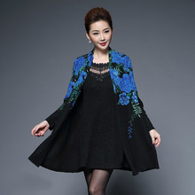 Spring Summer Women High Quality Embroidery Two Piece Dress Casual Long Sleeve Slim Women's Party Dresses Vestidos Plus Size