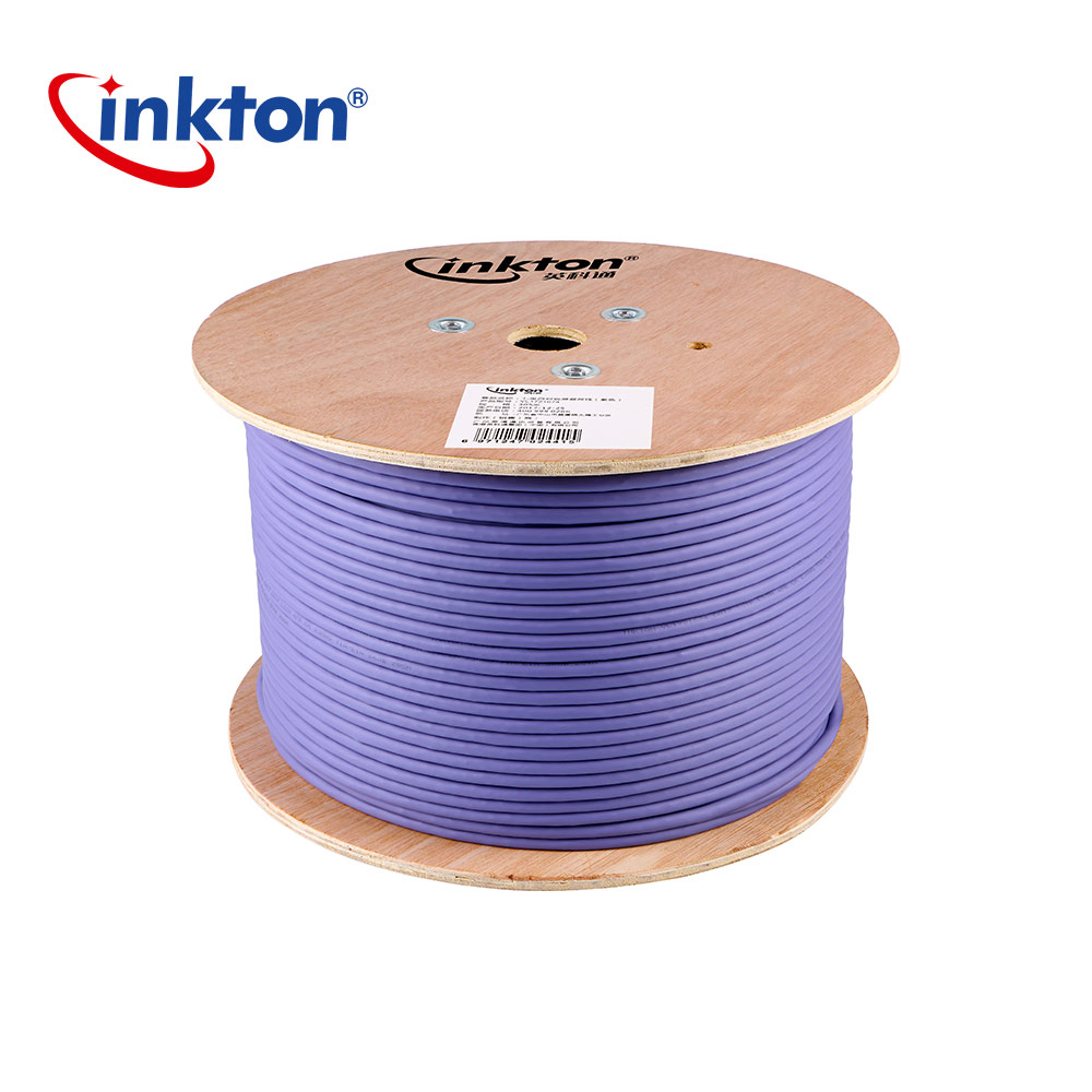 Inkton Ethernet Cable Cat7 Double Shielding 10 Gigabit High Speed STP LSZH Network Cable 30m/50m/100m/305m UL/CE/RoHS/ISO9001