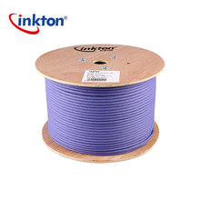 Inkton Ethernet Cable Cat7 Double Shielding 10 Gigabit High Speed STP LSZH Network Cable 30m/50m/100m/305m UL/CE/RoHS/ISO9001 цена 2017