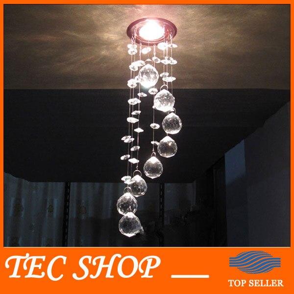 ФОТО Best Price 3W LED Crystal Chandelier Modern Crystal Lamps Aisle Hallway Lights Diameter 85mm x Height 300mm