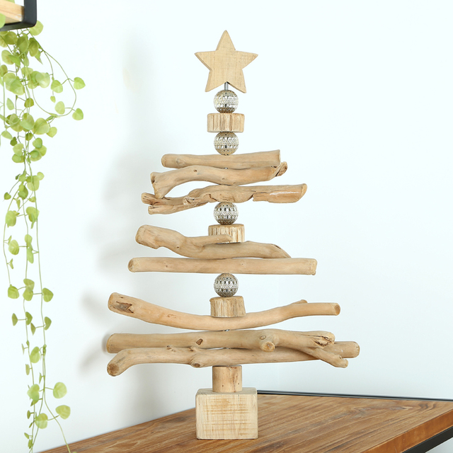 Habitat Christmas Trees: Mid Levels Habitat Rotating Wooden Christmas Tree