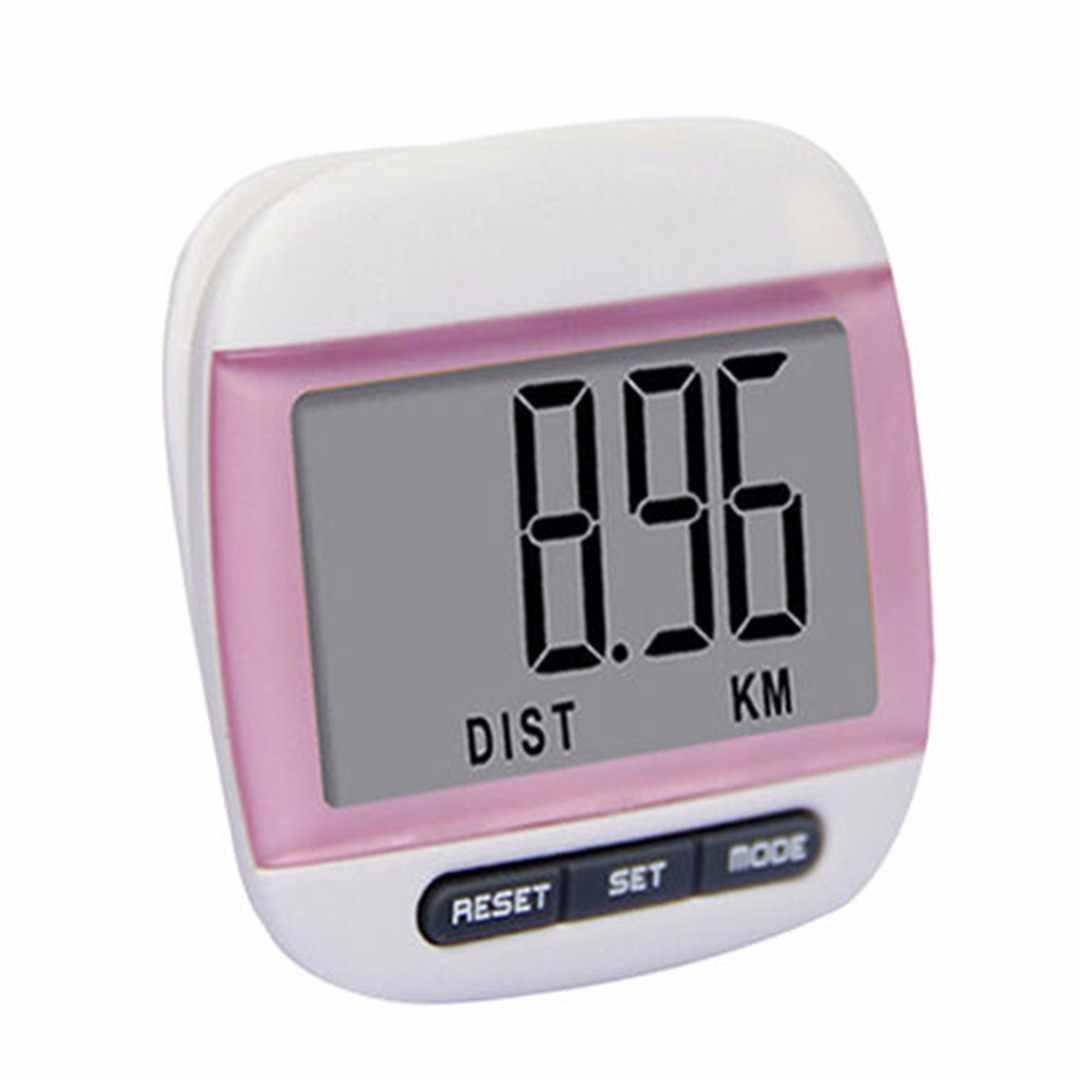 LCD ceinture pince podomètre marche pas compter KM Distance calcul compteur numérique podomètres Fitness équipement