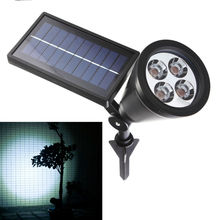 New Arrival Led Solar Light Outdoor 4 LEDs Solar Power Spotlight Garden Lawn Lamp Landscape Spot Lights