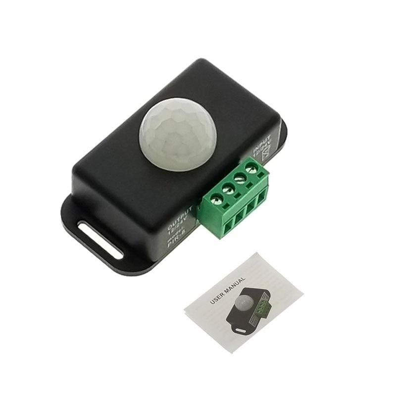 DC 12V 24V 8A Automatic Adjust PIR Motion Sensor Switch IR Infrared Detector Light Switch Module For LED Strip Light Lamp