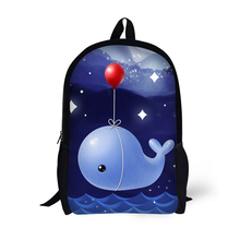 Fish Printing Backpack Children School Bags For Teenager Boys Girls Backpacks Mochila Laptop Backpack Bookbag 17 Inch