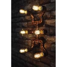 E27 Эдисон 6 Головы Творческий Американский Стиль Ретро Лофт Промышленные Светильники Бра Водопровод Старинные Стены Бра Лестница Света