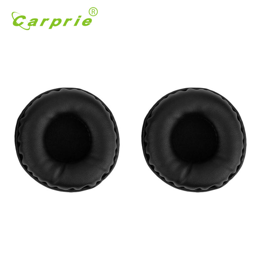 Carprie New 1Pair Protein Leather Replacement Ear Pads 65MM Headphones 17Jul07 Dropshipping
