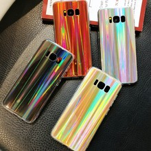Luxury Glitter Phone Cases For Samsung Galaxy S8 S9 Plus Note 8 9 A6 A8 2018 J7 J5 J3 2017 Laser Shining Soft TPU Silicone Cover(China)