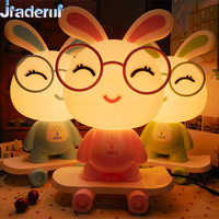 Jiaderui 3D Creative Cartoon Skateboard Table Lamps New Year Gifts Cute Dog LED Night Lights Novel Frog Lamps Baby Bedroom Decor