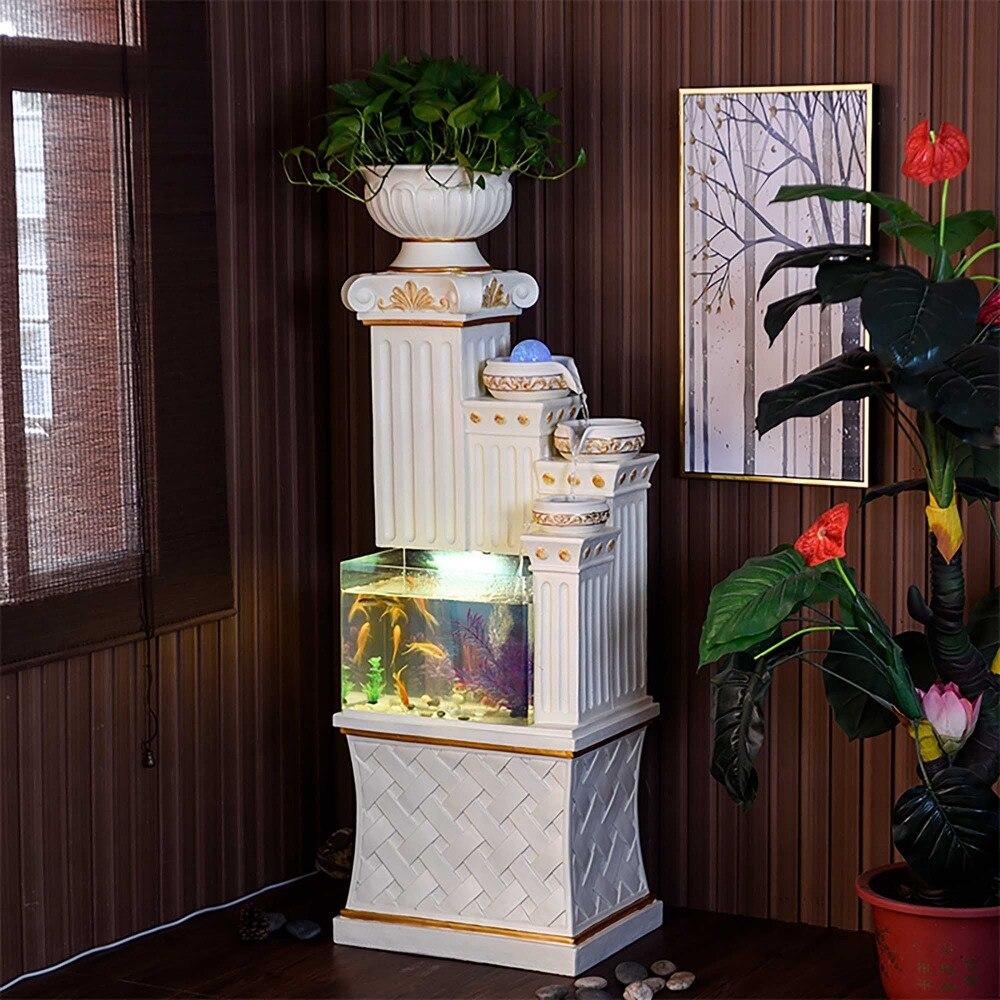 Аквариум каскад воды римская колонна столб пьедестал стенд домашняя комната офис украшения Крытый воды особенности waterscape