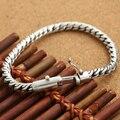 Handmade S925 prata pulseira cadeia vintage pulseira de prata homem thai prata masculino pulseira de presente de jóias