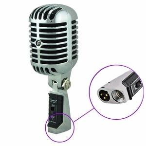 Image 5 - FREEBOSS FB W01 przewodowy dynamiczny mikrofon Retro styl Vintage profesjonalny Karaoke KTV Studio Mic Jazz Stage wokalny mikrofon