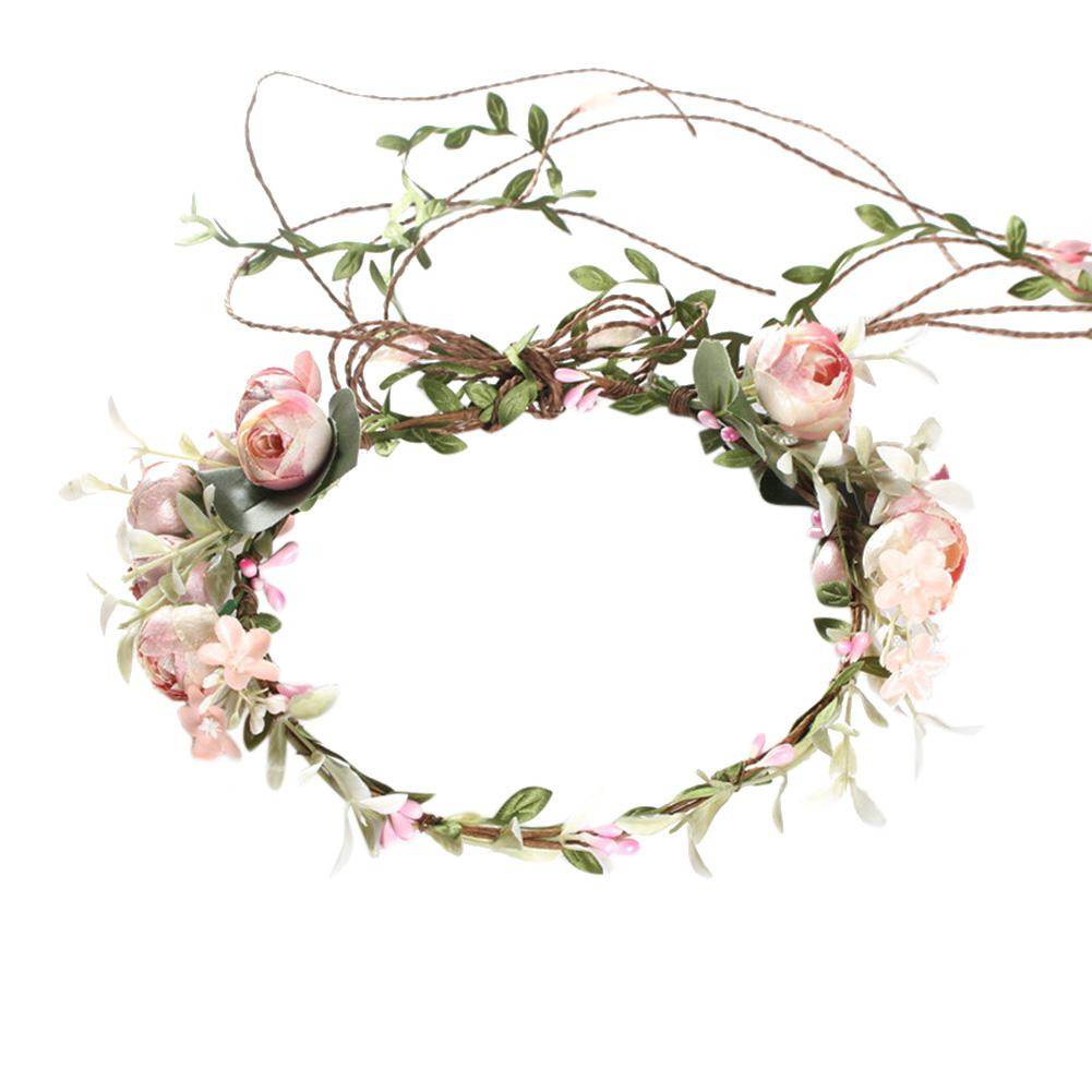 Coleus Gold Diamond Head Hair Hoop Headband Headband Wedding Birthday Headdress Ornaments Handmade Crystal Flower Hair Accessories Bridal Long Bow