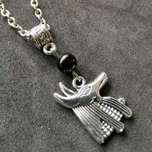 Pagan Design Necklace Egyptian Anubis Jackal God Necklaces For Women Pendant Choker Collier Bijoux Christmas Gift New