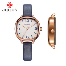 New julius relógio marca de relógios das mulheres de quartzo horas bonito fino vestido moda pulseira de couro casual retro girl presente de aniversário 928