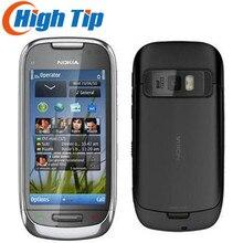 C7 Nokia разблокированный мобильный телефон GSM 3g wifi gps 8MP 8GB Внутренняя память 1 год гарантии отремонтированный