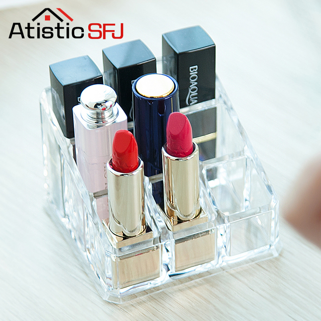 9 Grid Makeup Organizer Clear Acrylic Cosmetic For Organiser Drawer
