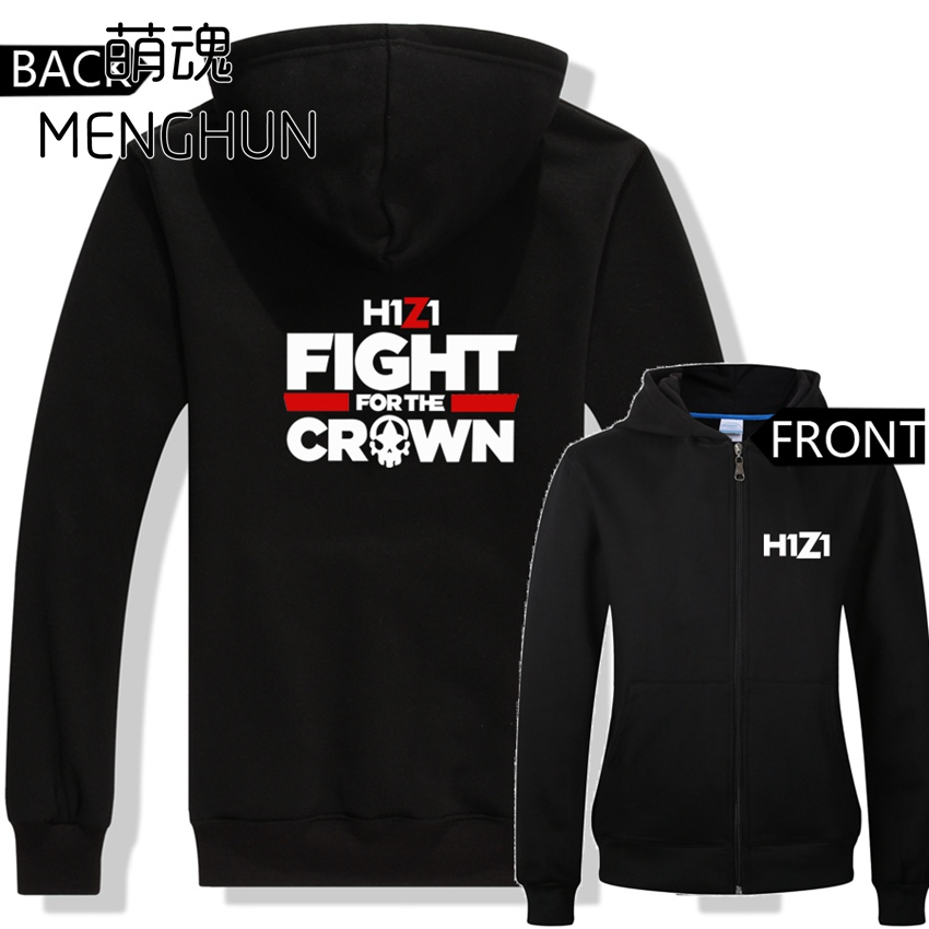 World hot online game H1Z1 hoodies game fans daily wear warm zip-up colorful hoodies H1Z1 costumes ac593