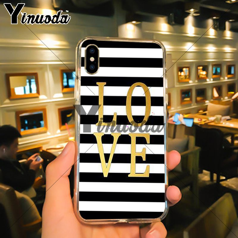 Black White Stripes Gold Love (3)